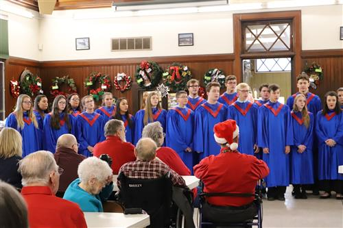 The Medina Select Ensemble sing at the Medina Senior Center
