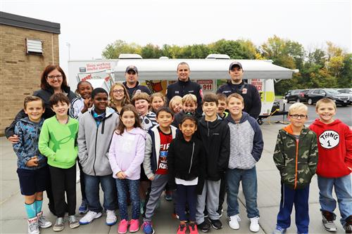 Oak Orchard Students Explore Fire Safety Trailer